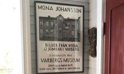 Affisch för en utställning med konstnären Mona Johansson.