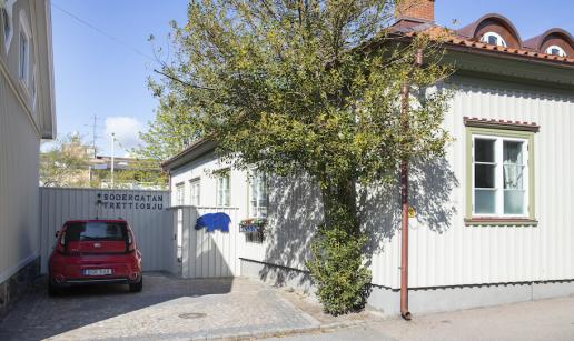 Huset på Södergatan 37 sett från gatan.